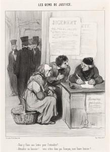 Honoré Daumier, Faut-y faire une lettre pour l'attendrir?, French, 1808 - 1879, 1845, lithograph, Rosenwald Collection