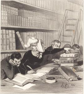 Honoré Daumier (French, 1808 - 1879 ), Monsieur, pardon si je vous gêne un peu..., 1844, lithograph, Rosenwald Collection 1946.11.45