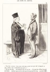 Honoré Daumier (French, 1808 - 1879 ), Ainsi donc, quoique j'vous avoue..., 1846, lithograph, Rosenwald Collection 1953.6.44