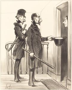 Honoré Daumier (French, 1808 - 1879 ), La Souscription Napoléonienne, 1851, lithograph, Rosenwald Collection 1958.8.45
